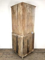 Victorian Stripped Pine Corner Cupboard with Glazed Top (7 of 11)