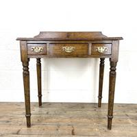 19th Century Antique Oak Side Table (2 of 10)