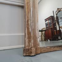 Distressed Antique English Overmantle Mirror c.1890 (2 of 5)