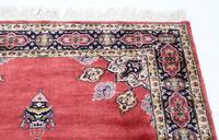 """Vintage / Retro Wool Rug ~ 8' x 4'6"""" Eastern (6 of 8)"""