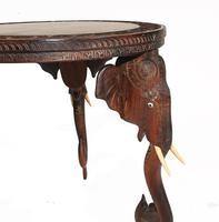 Carved Burmese Table Elephant Legs Antique Burma Furniture (4 of 10)