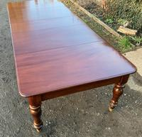 Victorian Mahogany Extending Dining Table with 3 Leaves seats 12 (2 of 8)