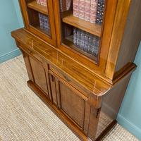 Quality Victorian Mahogany Glazed Antique Bookcase on Cupboard (7 of 9)