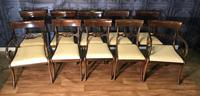 Mahogany Dining Table & Set of 10 Regency Style Chairs (12 of 19)