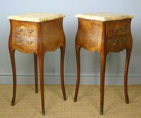 Antique Pair of French Bedside Cabinets Marble Top (5 of 6)