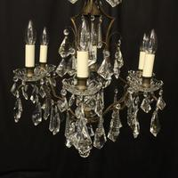 French Gilded 7 Light Antique Chandelier (2 of 10)