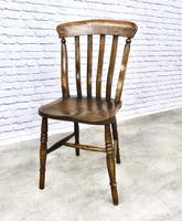 Matched Set of Six Victorian Windsor Lathback Chairs (6 of 8)