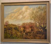 Oil Painting of the Old Bridge Near Welham (2 of 8)