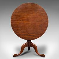Antique Tilt Top Table, English, Mahogany, Lamp, Wine, Side, Georgian c.1770 (2 of 12)