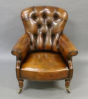 19th Century Leather Upholstered Armchair (4 of 6)
