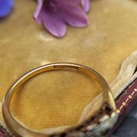 Art Deco 18ct Yellow Gold, Platinum, Ruby & Diamond Trilogy Ring, Antique (8 of 9)
