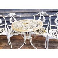 Aluminium Vintage White Painted Five Piece Patio Set (2 of 12)