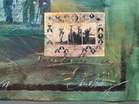 'Classical Golf' - Beautiful Signed Original 20thc Mixed Media Abstract Painting (9 of 11)
