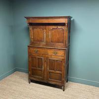 Magnificent Georgian Period Oak Cwpwrdd Deuddarn Cupboard (6 of 8)