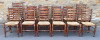 Set of 12 Oak Ladder Back Dining Chairs - Royal Oak Furniture (2 of 15)