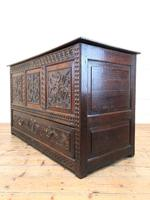 18th Century Carved Oak Mule Chest (11 of 13)