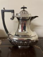 Edwardian William Aitken Solid Silver Tea & Coffee Set Birmingham 1903 (4 of 14)