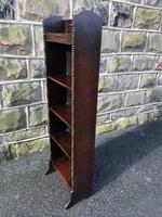 Antique Slim Oak Open Bookcase (5 of 7)