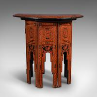 Antique Occasional Table, Oriental, Coffee, Lamp, Stand, Victorian c.1850 (4 of 12)