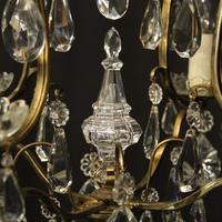 French Gilded 4 Light Cage Antique Chandelier (8 of 10)