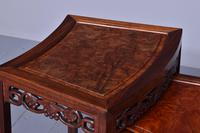 Nest of 3 Chinese Qing Dynasty Rosewood & Burr Wood Tables (10 of 11)