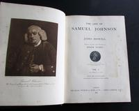 1907 The Life of Samuel Johnson by James Boswell, 2 Large Leather Volumes (2 of 5)