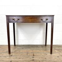 Antique Georgian Oak Side Table with Drawer (2 of 10)