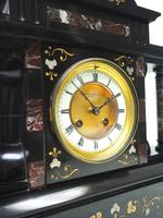 Amazing Mappin & Webb French Slate & Marble Mantel Clock 8 Day Striking Mantle Clock (5 of 10)