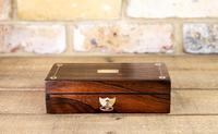Rosewood & Mother of Pearl Desk Box 1830 (5 of 7)