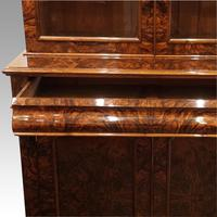 Victorian Burr Walnut Library Bookcase (10 of 11)