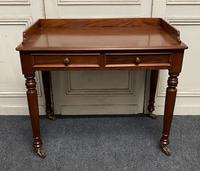 Victorian 2 Drawer Writing Table or Desk (7 of 16)
