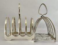 Smart Pair Silver Plated Toast Racks c.1920 (6 of 6)