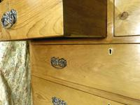 Lovely 2 Over 3 Victorian Stripped Pine Chest of Drawers with Fancy Pierced Metal Handles (6 of 9)