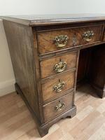 George III Gentleman's Kneehole Leather Top Mahogany Desk (3 of 12)