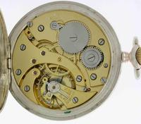 Silver 0.800 Mint Pocket Watch With Lion on  Dial Case and Movement - Swiss 1930 (6 of 6)