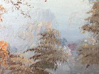 "20th Century Oil Painting Landscape Forest River ""View Through The Trees"" (14 of 20)"