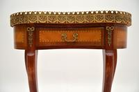 Antique French Marble Top Kidney Side Table (4 of 11)