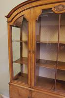 Quality Antique Walnut Display Cabinet (3 of 19)