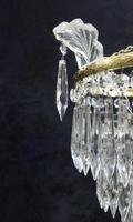 Italian Art Deco Three Tier Crystal Glass Chandelier (5 of 7)