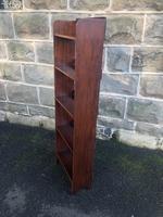 Edwardian Inlaid Mahogany Slim Open Bookcase (4 of 7)