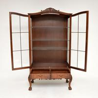 Burr Walnut Display Cabinet c.1930 (3 of 11)
