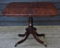 Elegant Regency Mahogany D-end Tea Table c.1820 (6 of 11)