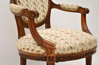 Antique French Carved  Walnut Salon Armchair (7 of 13)