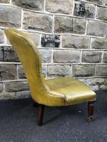 Antique Leather & Mahogany Nursing Chair (6 of 7)