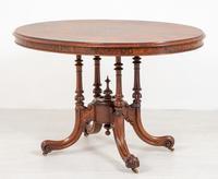 Pretty Victorian Burr Walnut Centre Table (6 of 9)