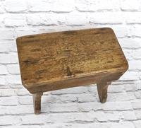 Antique Pine Bench Stool (4 of 5)