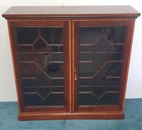 Pair of Edwardian Inlaid Mahogany Floor Bookcases (4 of 4)