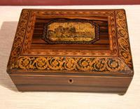 Regency Tonbridge Ware Castle Rosewood Sewing Box (7 of 8)