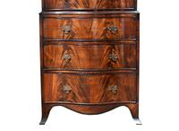 Edwardian Flame Mahogany Serpentine Chest on Chest (5 of 6)
