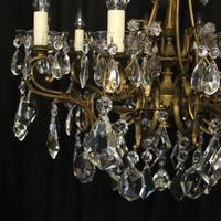 Italian 10 Light Gilded & Crystal Chandelier (5 of 10)